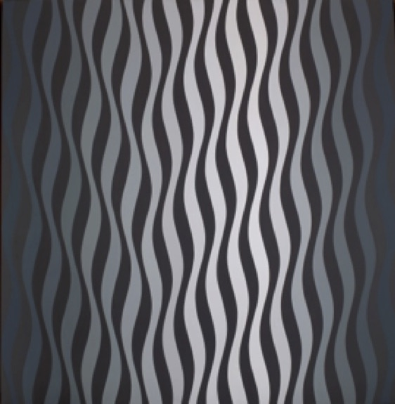 Bridget Riley. Drift No. 2.  1966. Acrylic on Canvas.