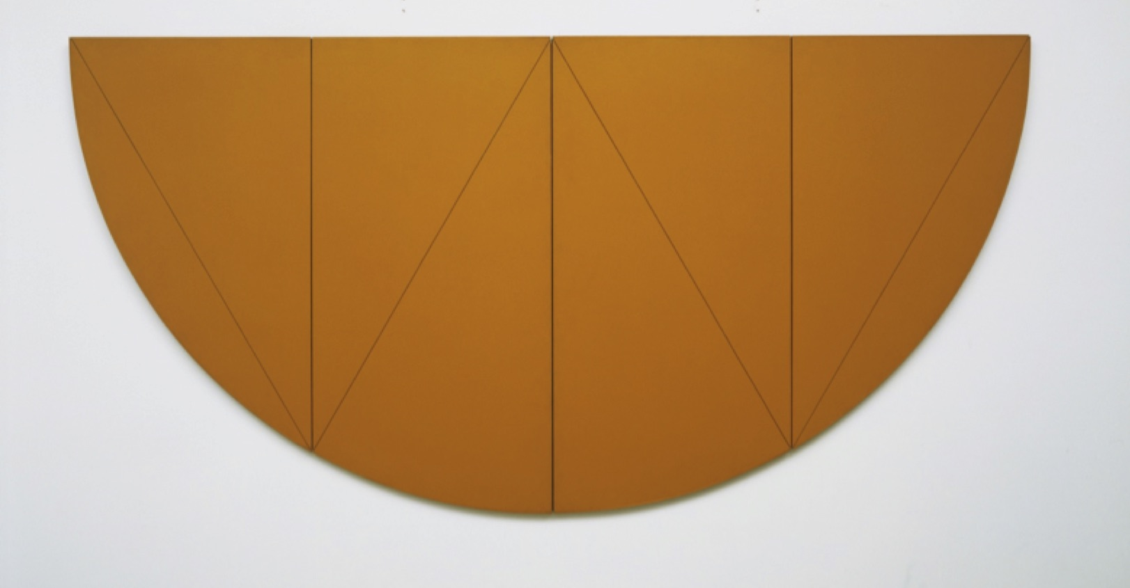 Robert Mangold, ½ W Series.   1968. Synthetic polymer paint on composition board in two parts.