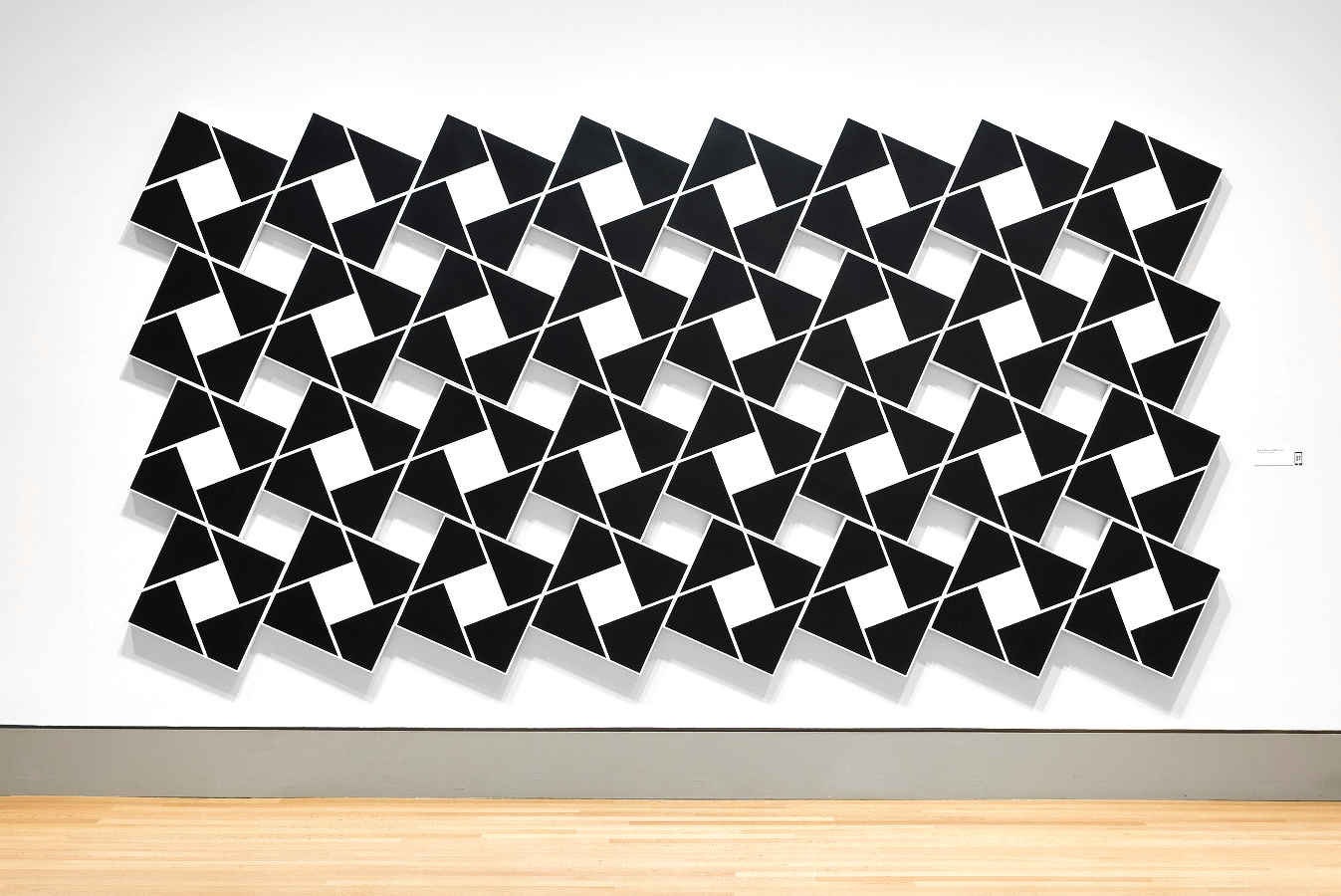 Ajlun I: Black Pearl   2002. Acrylic on 32 canvases. 80 x 168 in., 203.2 x 426.7 cm.