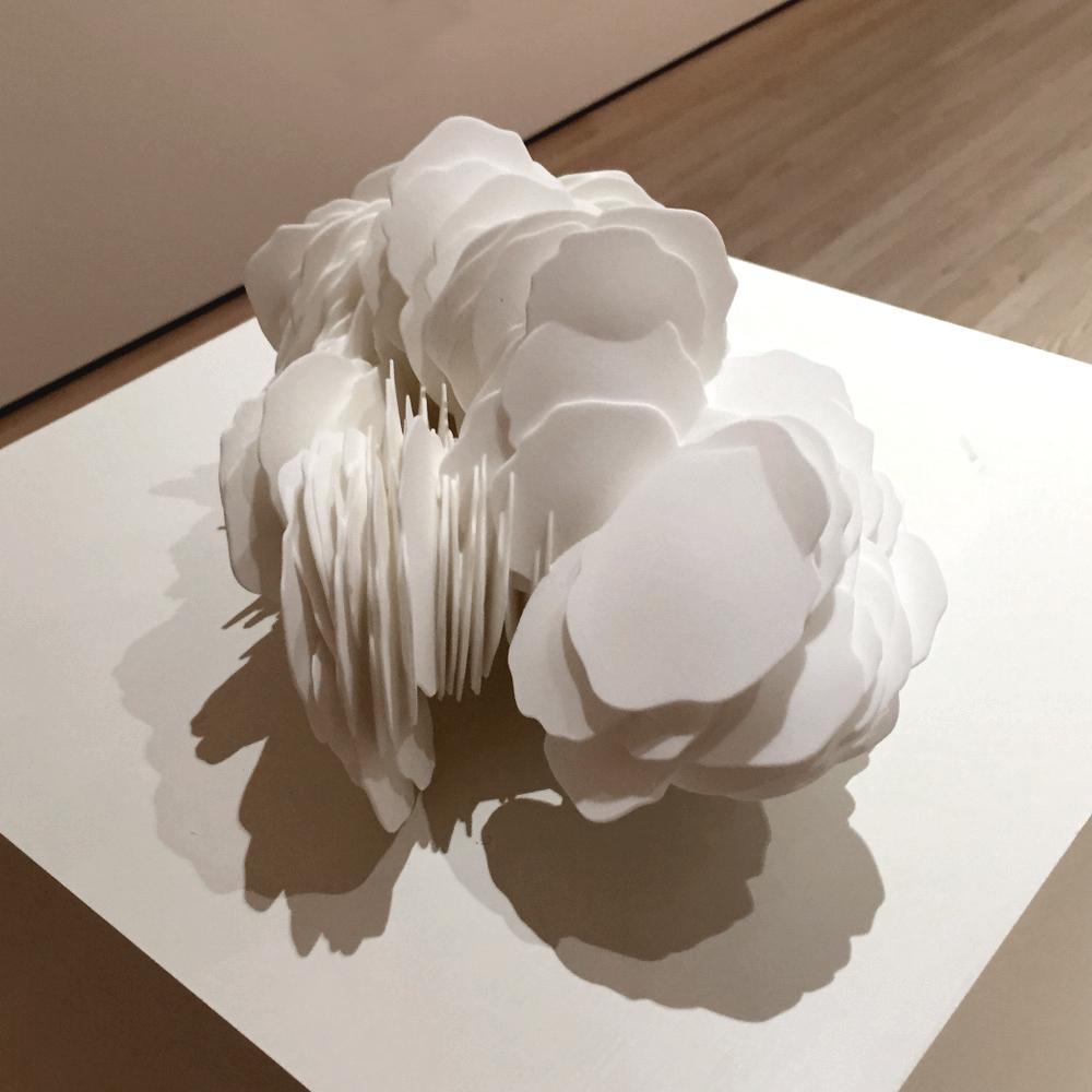Desert Rose VI   2016. 3D-printed polymer. 10 x 9 x 11 in., 25.4 x 22.9 x 28 cm.