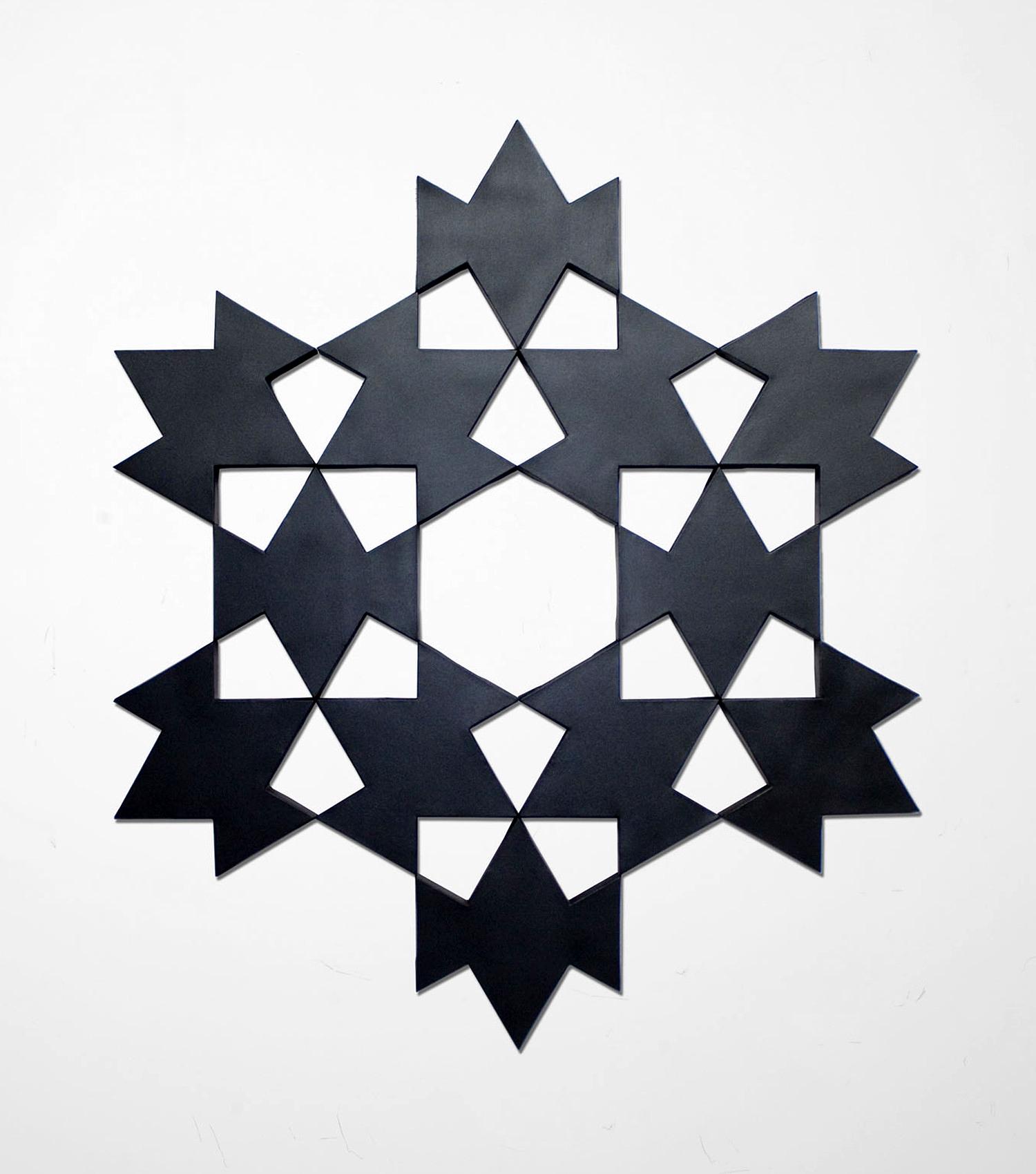 Mamluk II: Black Pearl   2010. Acrylic on 12 canvases. 62 x 72 in., 157.5 x 182.9 cm.