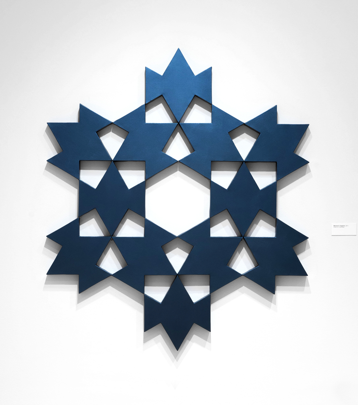 Mamluk IV: Sapphire   2011. Acrylic on 12 canvases. 62 x 72 in., 157.5 x 182.9 cm.