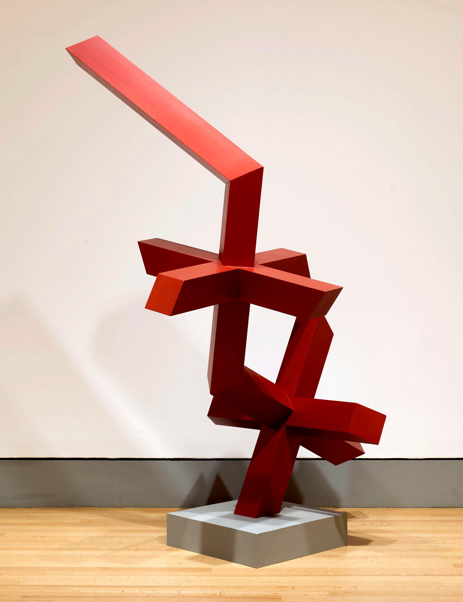Jali XXXII: Sashay Red   2012. Acrylic on wood. 96 x 48 x 48 in., 243.8 x 121.9 x 121.9 cm.