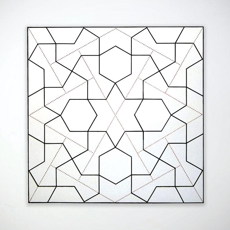 Topkapi XXII   2012. Acrylic on canvas. 60 x 60 in., 152.4 x 152.4 cm.