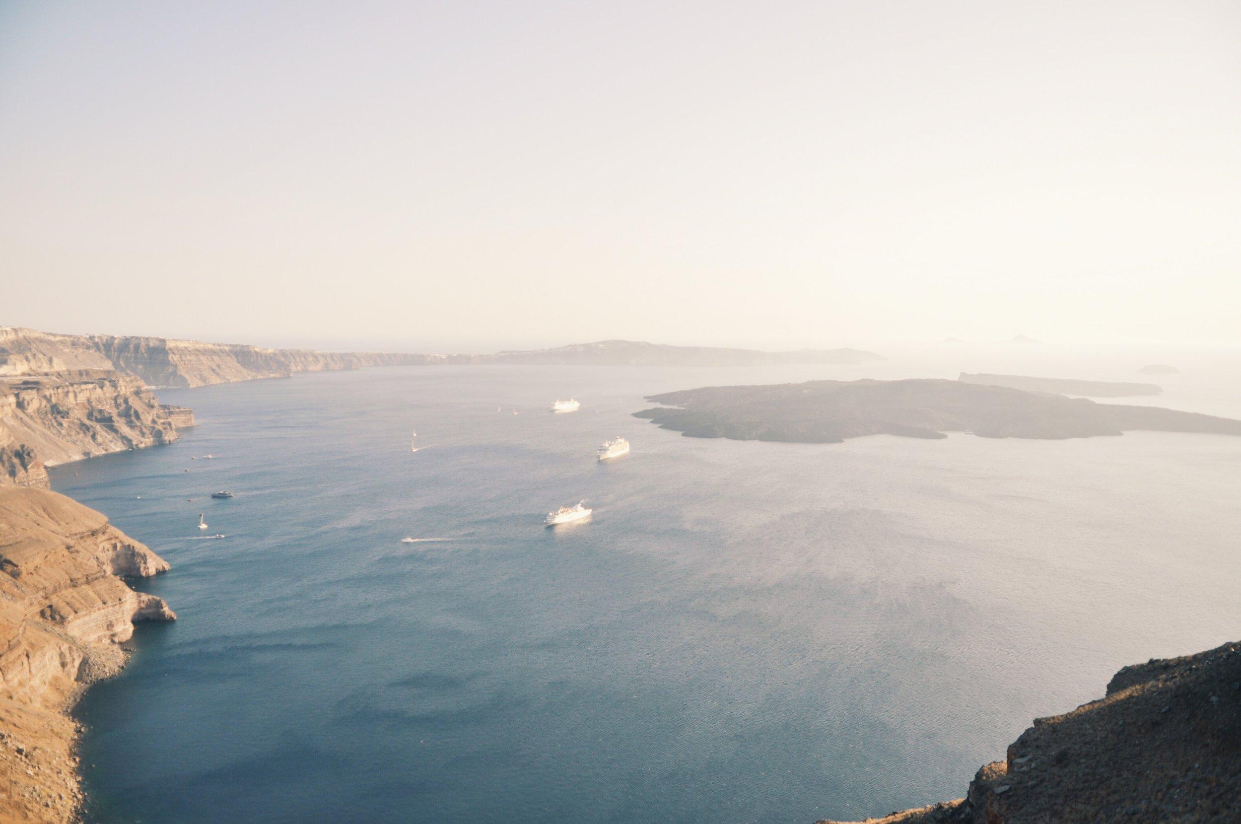 Caldera view from Imerovigli, Santorini, Greece