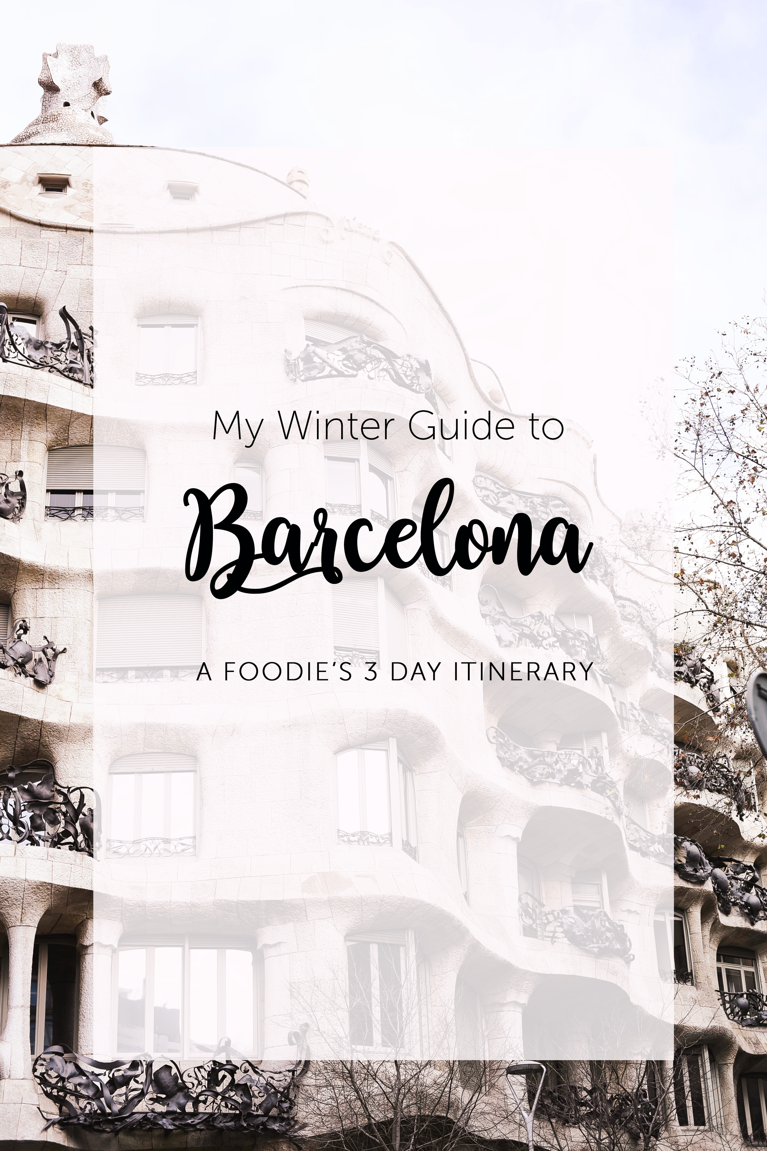 Things To Do in Barcelona during winter months- includes a list of amazing restaurants and essential information about this amazing city