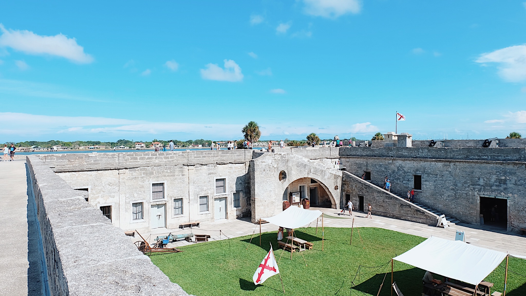 The Castillo de San Marcos is the oldest masonry fort in the continental United States. Located on the western shore of Matanzas Bay in the city of St. Augustine, Florida, the fort was designed by the Spanish engineer Ignacio Daza.