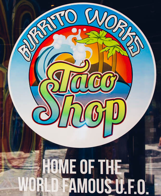 Burrito Works Taco Shop Logo