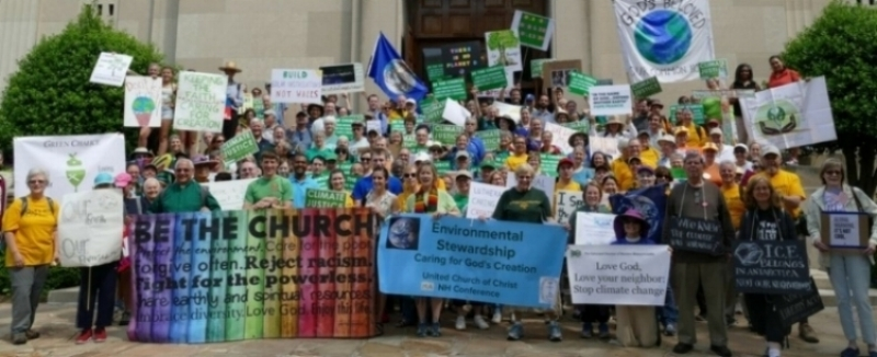 Members of the church joined the UCC Faith contingent of the Climate March in Washington D.C. on April 29, 2017.