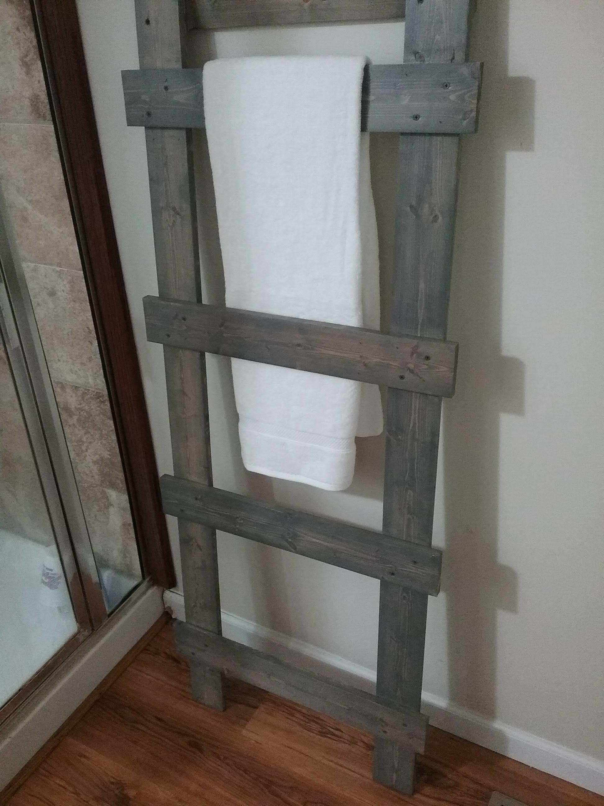 Towel ladder - weathered towel ladder $80.00
