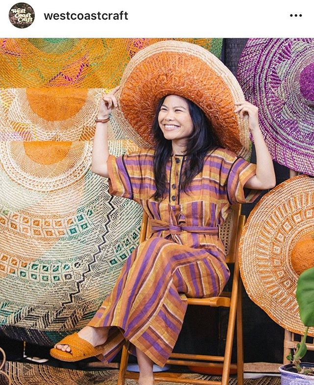 Thanks to everyone who stopped by to say 🤗 at @westcoastcraft ! Loved seeing old friends and making new ones. Woven mats + hats by our artisan partners @tagolwanenweavers . 📷 by the amazingly @annaalexia