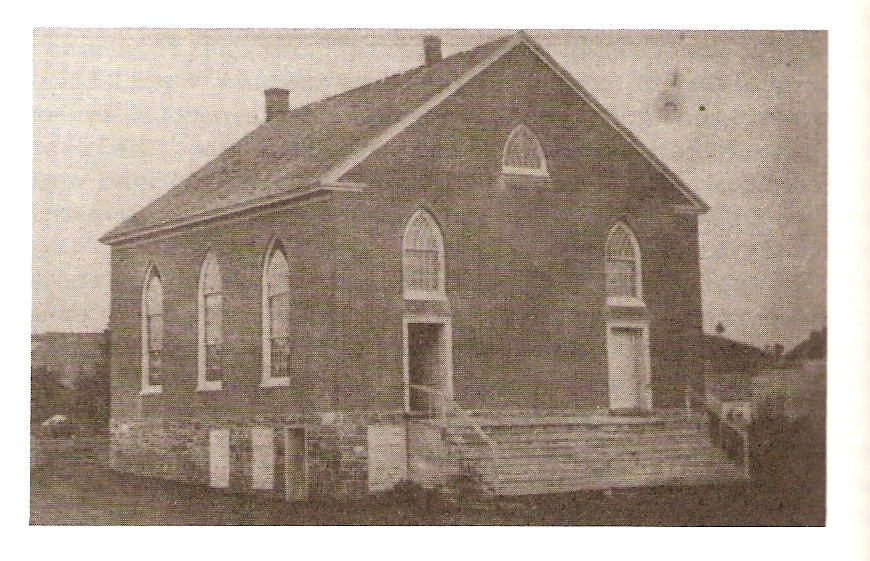 First Presbyterian Church built in 1834 on Sarah Street lot donated by Jacob Stroud