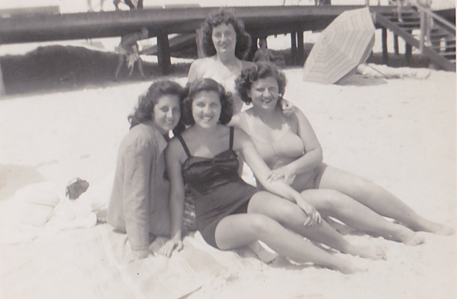 The four Lecaro girls (Top: Lucille; Left to right: Grace, Chris, and Florence)