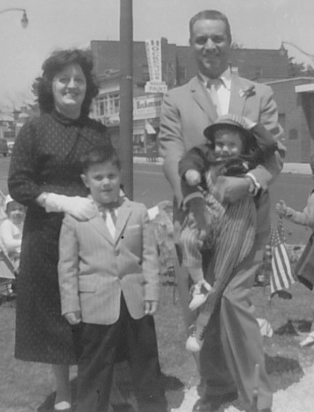 Charles and Lucille Muscato, with their sons Bill and Peter (my dad)