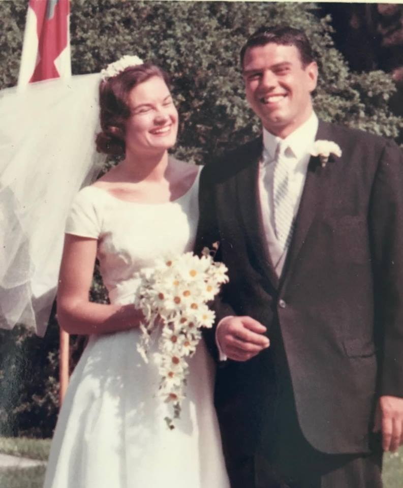 Patsy and Ron Fraser on their wedding day