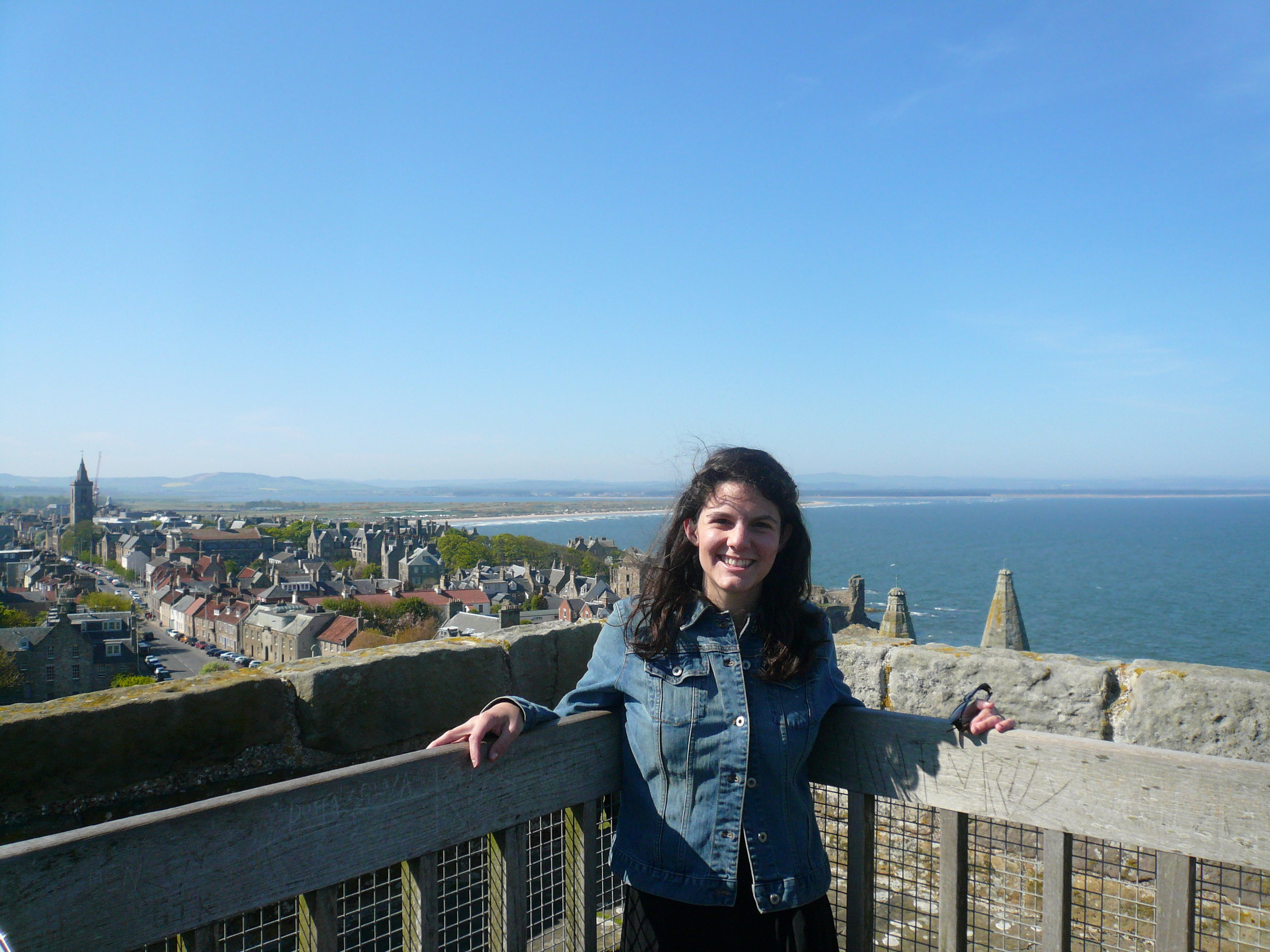 Overlooking the quaint and very old seaside town of St Andrews, which was my home for four years