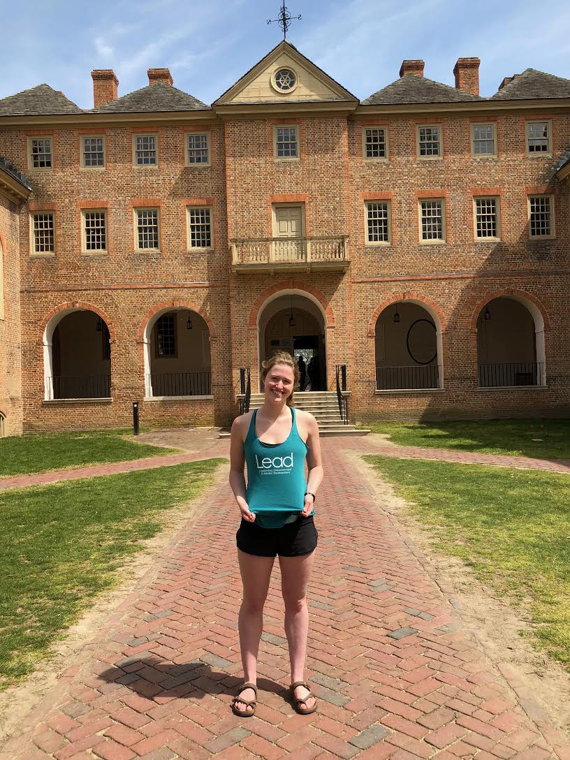LEAD Intern Mary Motch at the College of William & Mary