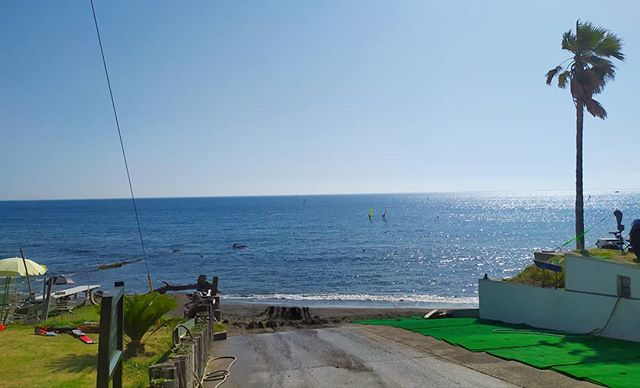Hello, summer. Goodbye, wetsuit. Bliss.  #swimminginjapan #miura #japan #kanagawa #explore #misakiguchi #jumpin #letsgoswimming #pacific #pacificbeach #beach #ocean #swimmingfreestyle #wildswimming #wild #wildswimmingjapan #windsurfing #quietbeach #openwater #openwaterswim #bliss