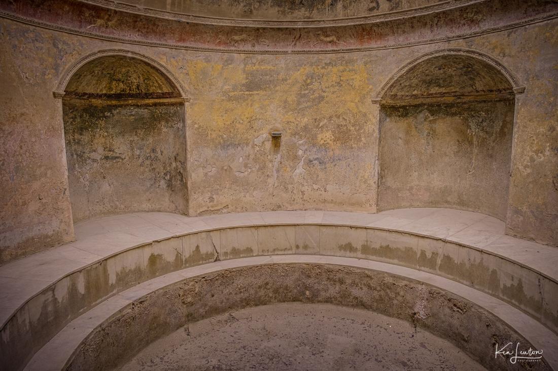 "Hot tub in the ""health club"" in Pompeii"