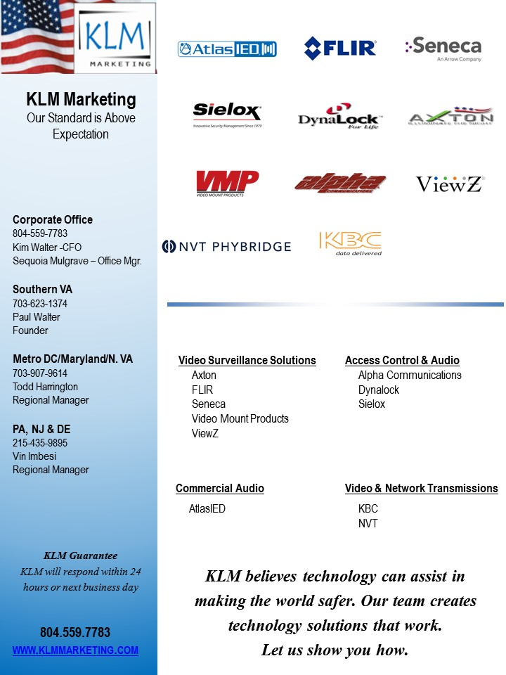 KLM Product line card