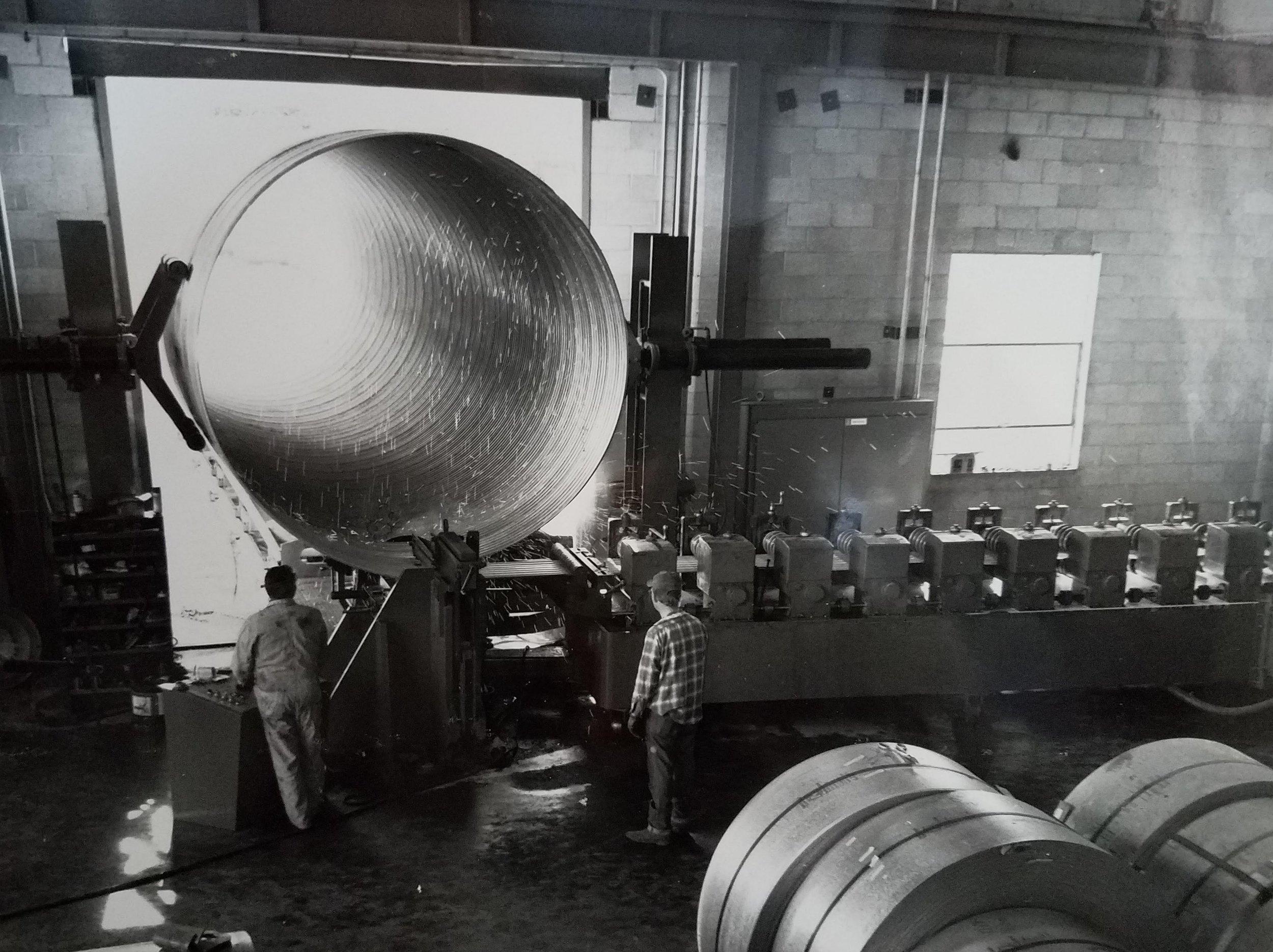Culvert manufacturing plant, True North Steel, Huron, South Dakota.