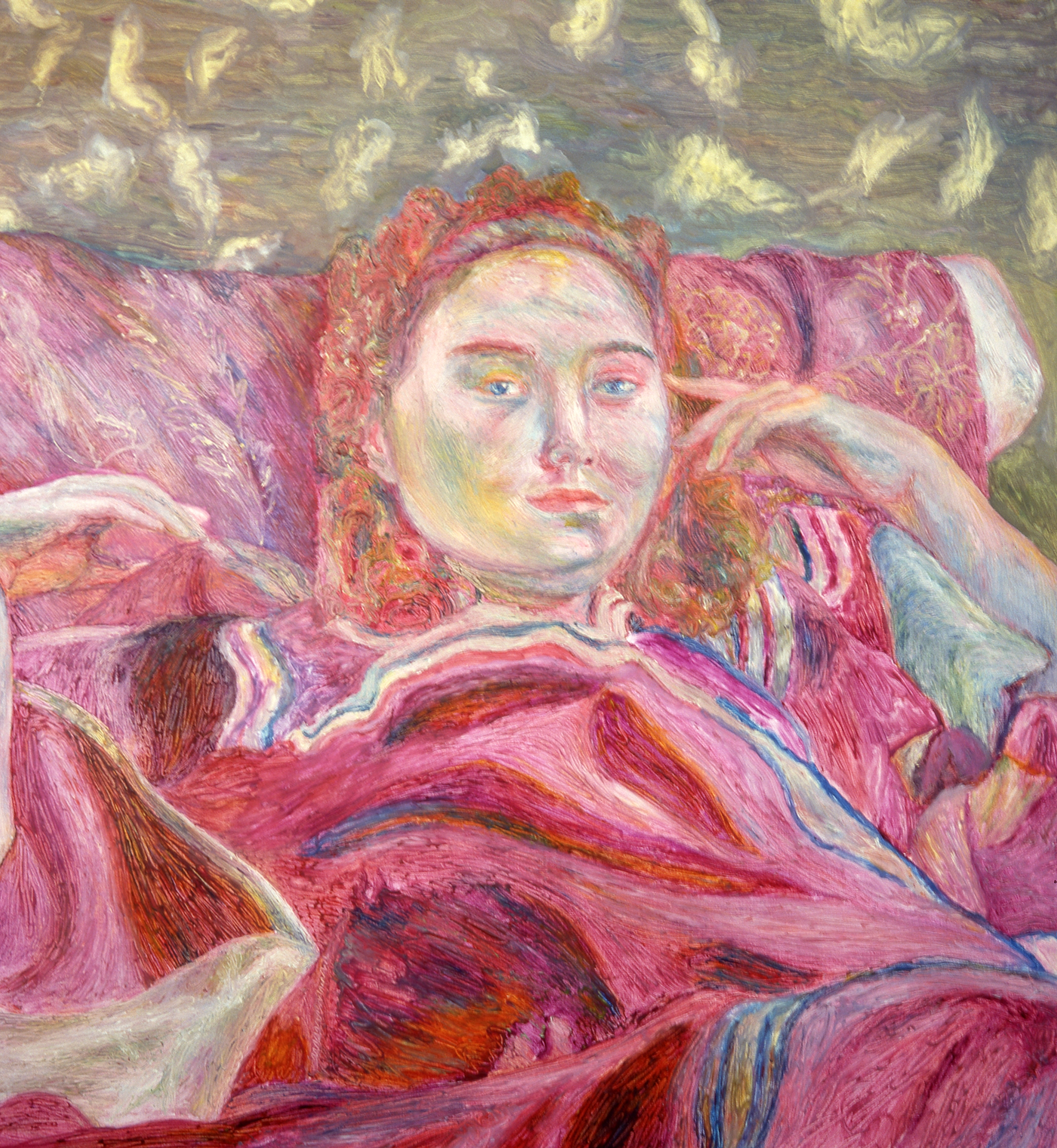 Woman in Violet Robe