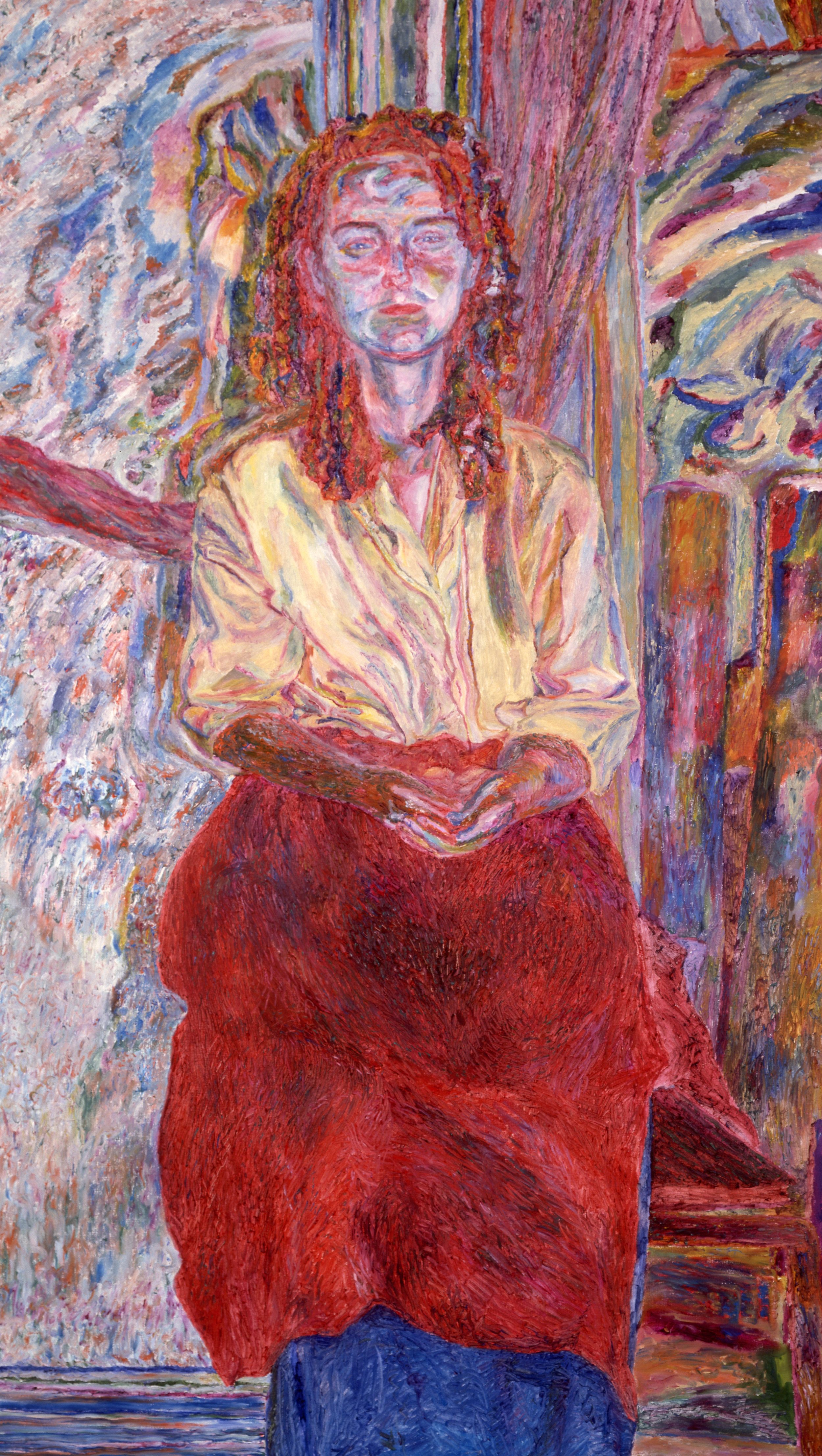 Woman with a Red Apron