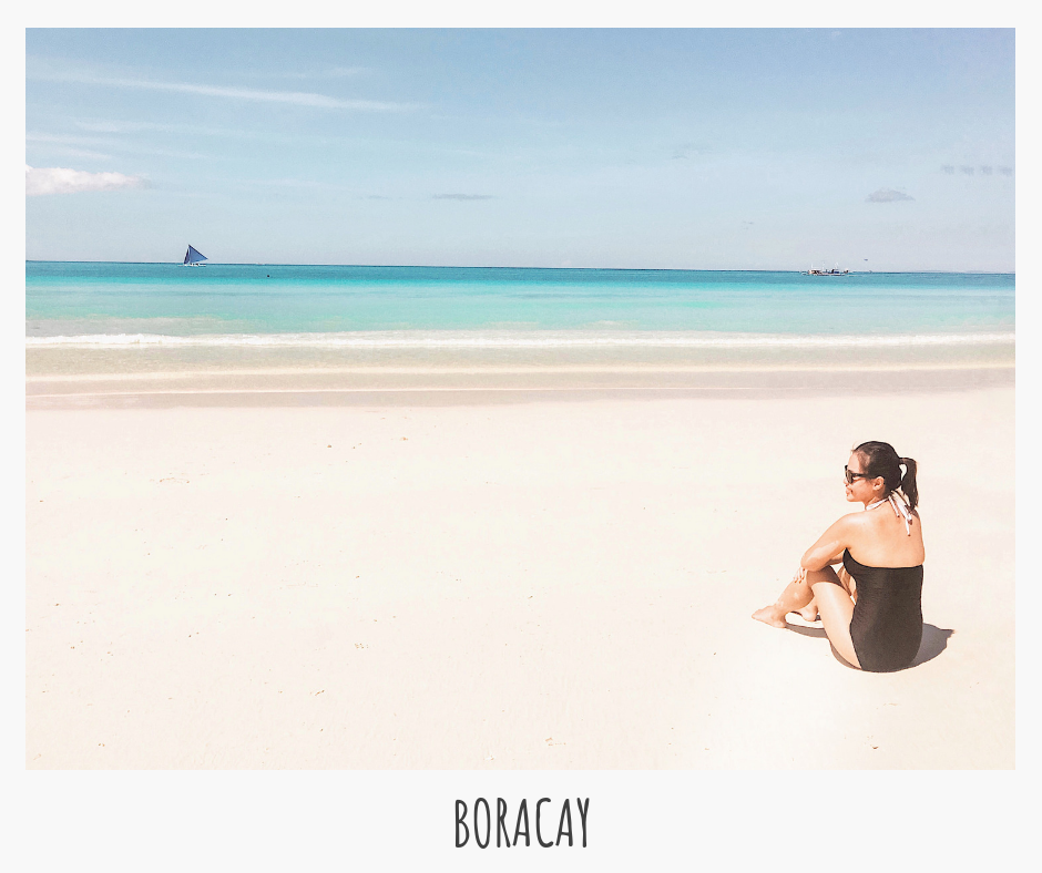 Boracay is a beach bum's paradise with its powdery white sand (that doesn't get hot!), pristine blue waters, and magical sunset views!😍