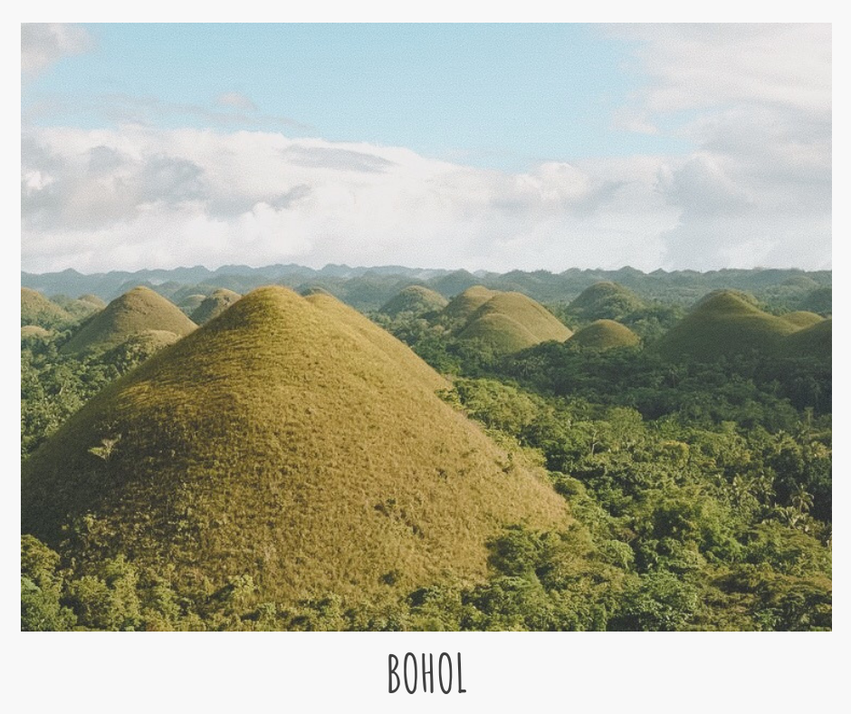 "Marvel at Bohol's ""Chocolate Hills"", catch a glimpse of some dolphins (in their natural habitat), and have some R&R in the rivers & beaches!"