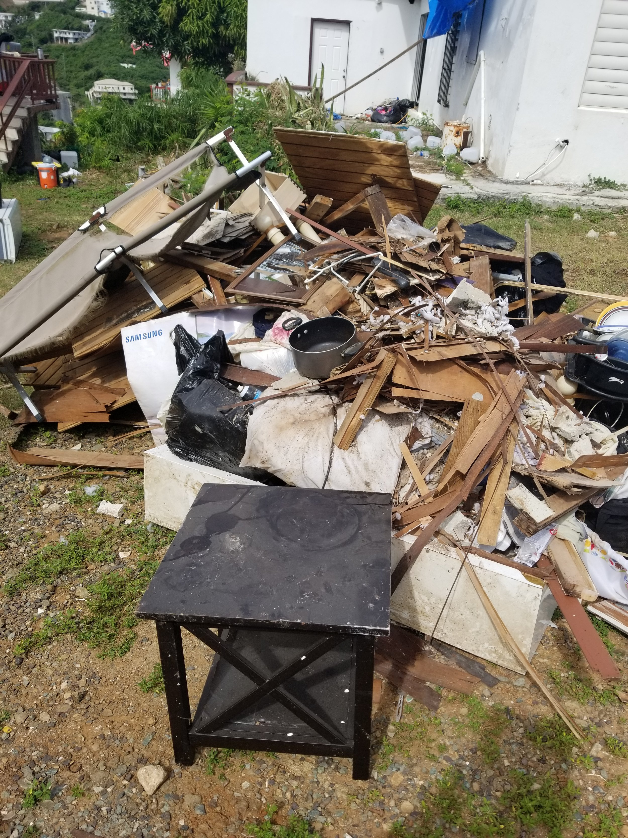There were very items we could salvage from the home.