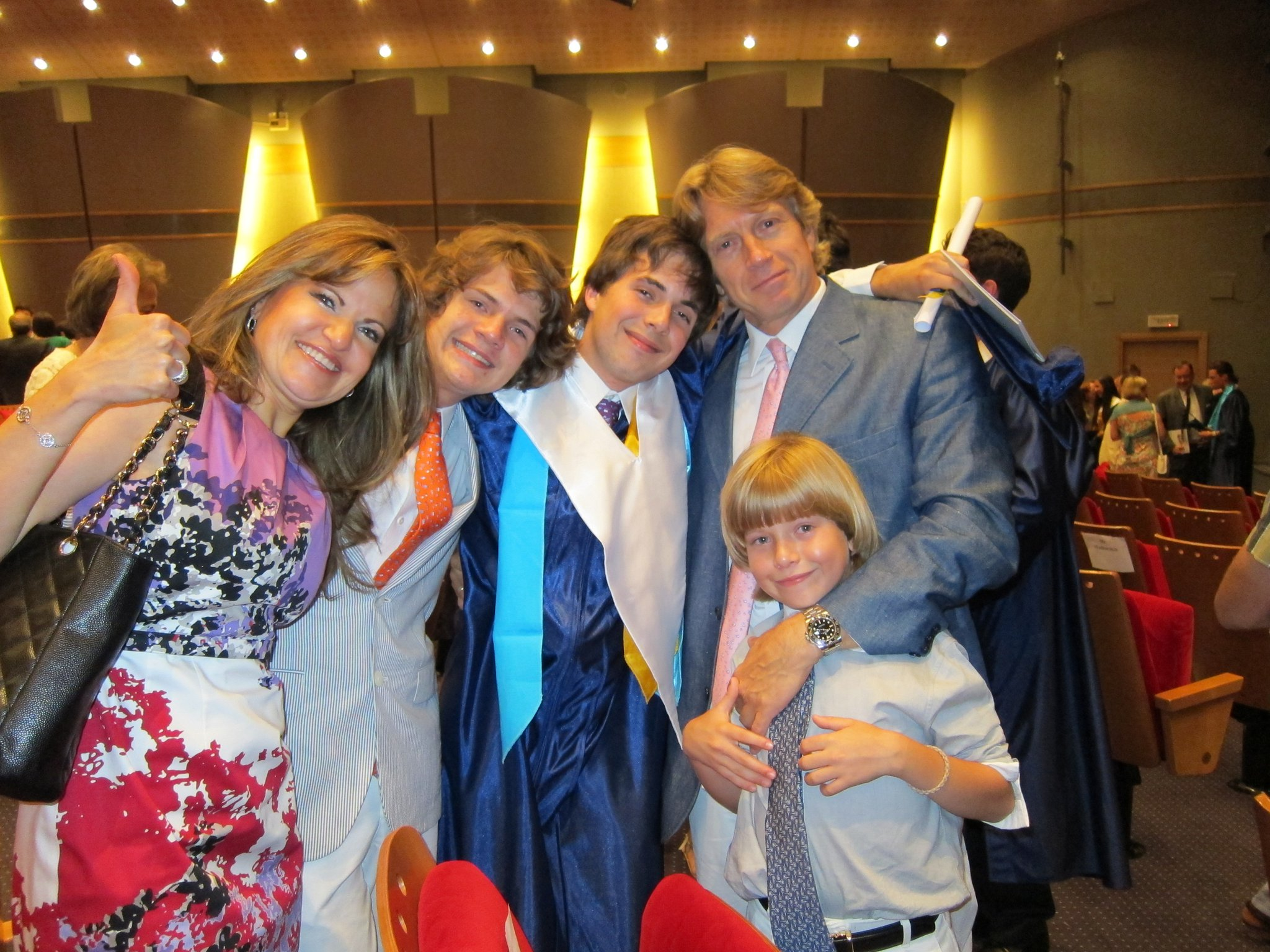 At my ACS graduation with family: alumni of the past, present, and future
