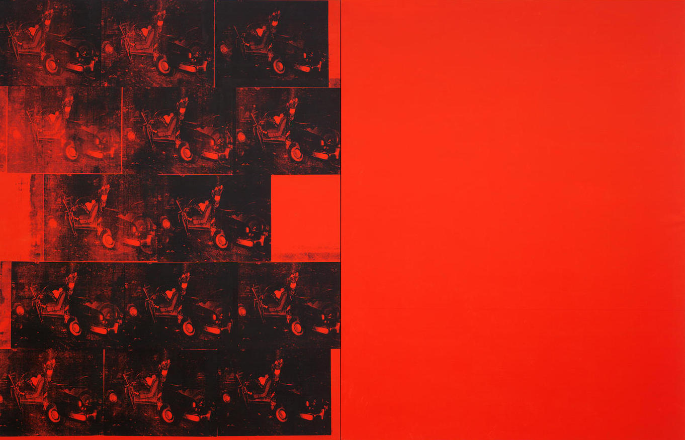Orange Car Crash Fourteen Times  , Andy Warhol (1965) Photograph: Courtesy The Museum of Modern Art