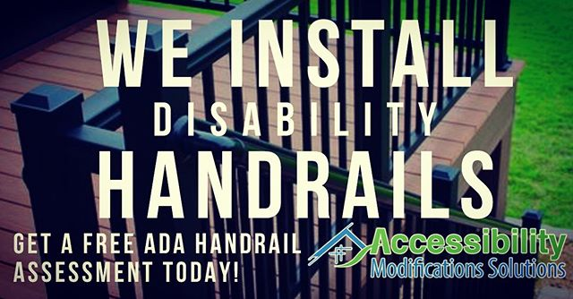 We install #disability #handrails in #PA #DE and #NJ! Get yours today! accessibilitymods.com