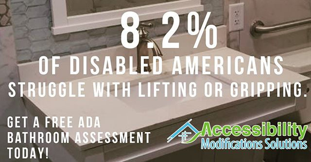 ♿ Almost 10% of #disabled #seniors struggle with lifting and gripping. Get an #ADA #sink with a handle that works for you!