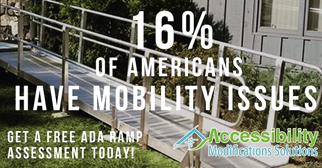 16% of people in the US would find it very difficult or impossible to walk unassisted for a quarter mile. Give the gift of stability and mobility at Accessibility Modifications Solutions accessibilitymods.com