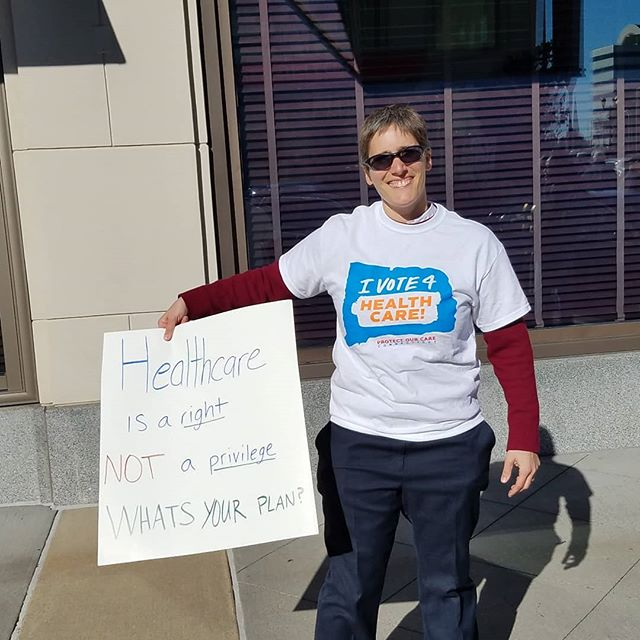 Cindy Dubuque-Gallo of @healthequitysolutions is ready to vote on Nov. 6. Are you? #IVote4HealthCare #protectourcarect
