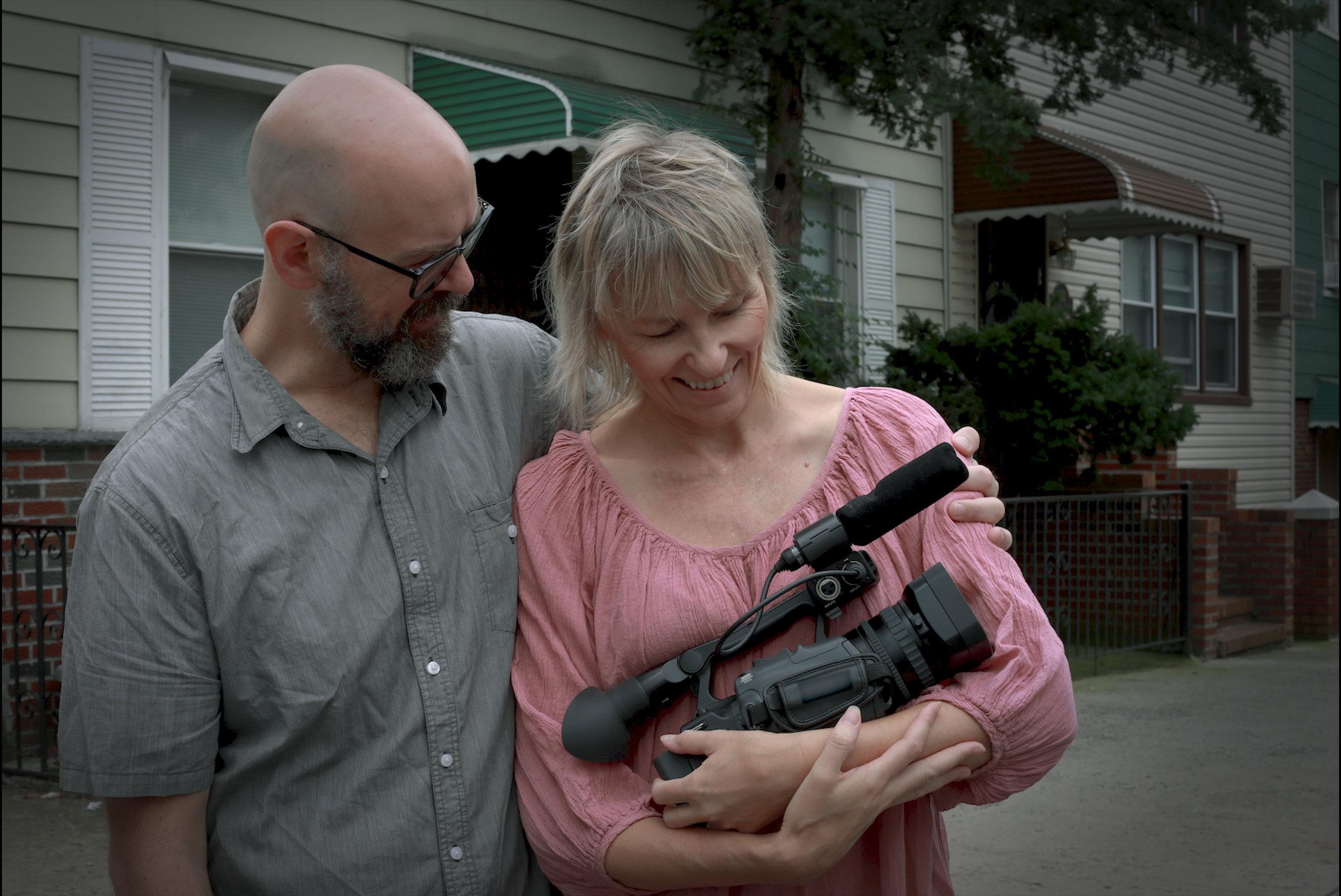 Maxine, husband Josh and camera