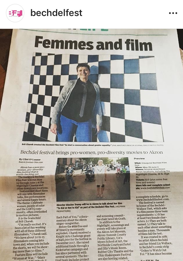 The Akron beacon journal FEATURING THE CHILDFREE FILM DIRECTOR MAXINE TRUMP and upcoming screening of to kid or not to kid