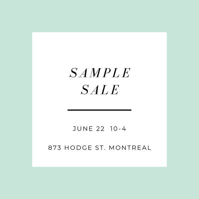 Saturday June 22nd we will be having our Sample Sale! Find gently used dresses up to 75% off retail. The first 20 customers to make a purchase will recieve 20% off a future rental 💃✨👗 #atelierprivemtl #montrealdressrental #ownthemoment