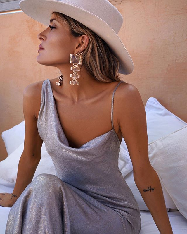 "New style by @ratandboa The ""Gaia slip dress"" this fluid, silk metallic show stopper of a dress will have you feeling like a star 🌟 #newarrival #designerdressrental #atelierprivemtl #ratandboa"