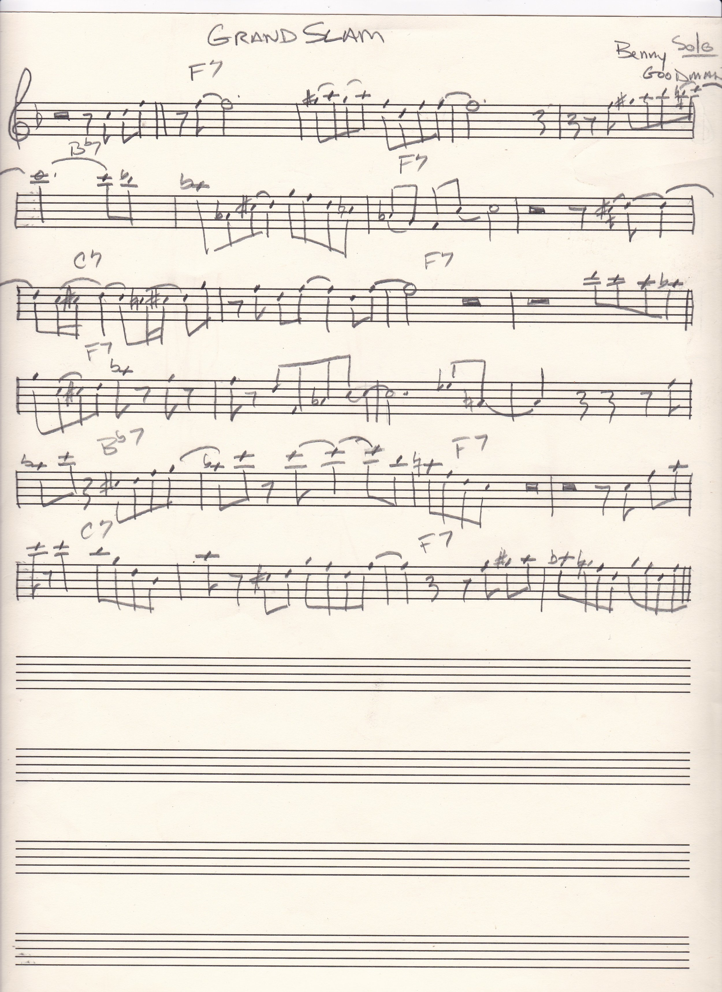 Grand Slam Benny Goodman's solo