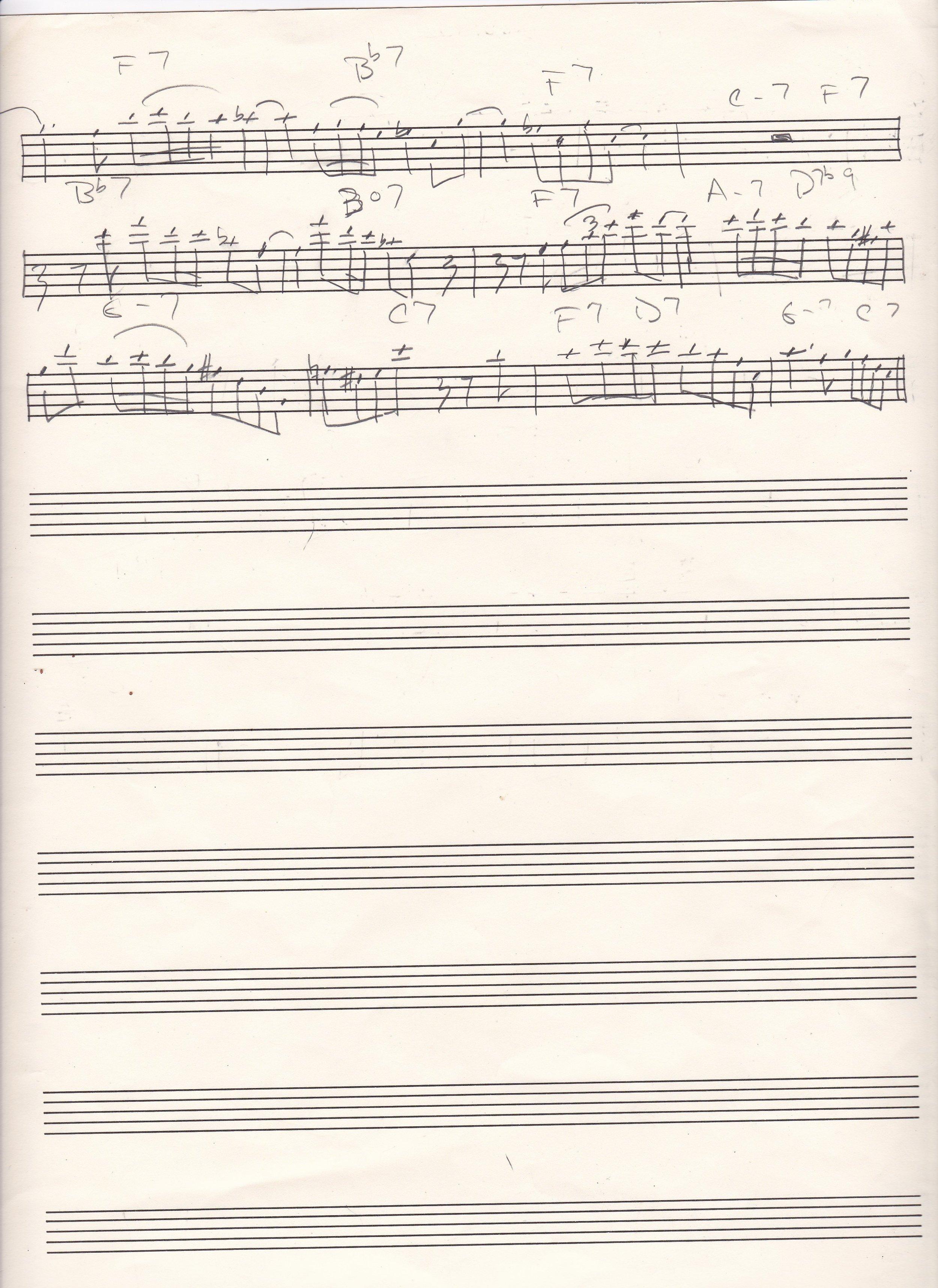 Billie's Bounce p.2 Charlie Parker's solo