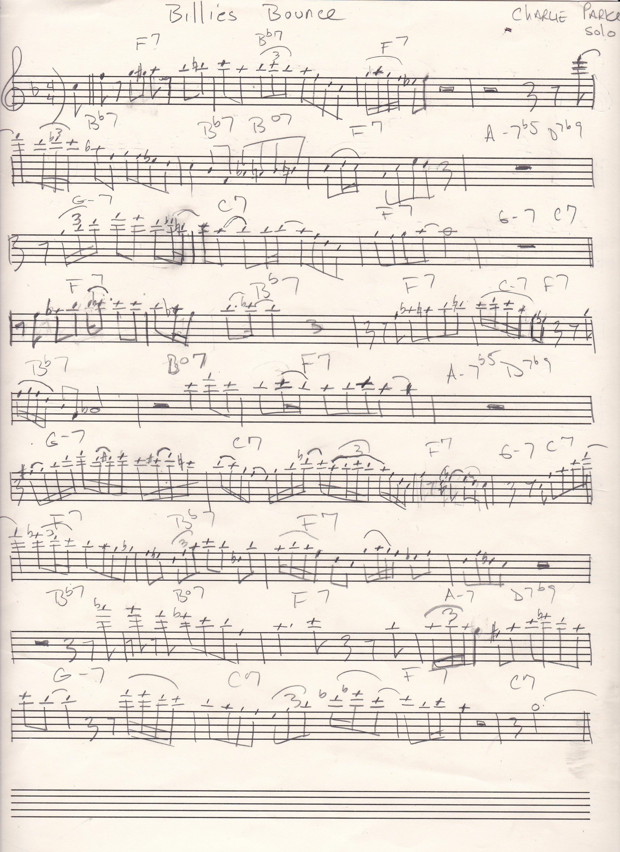 Billie's Bounce p.1 Charlie Parker's solo