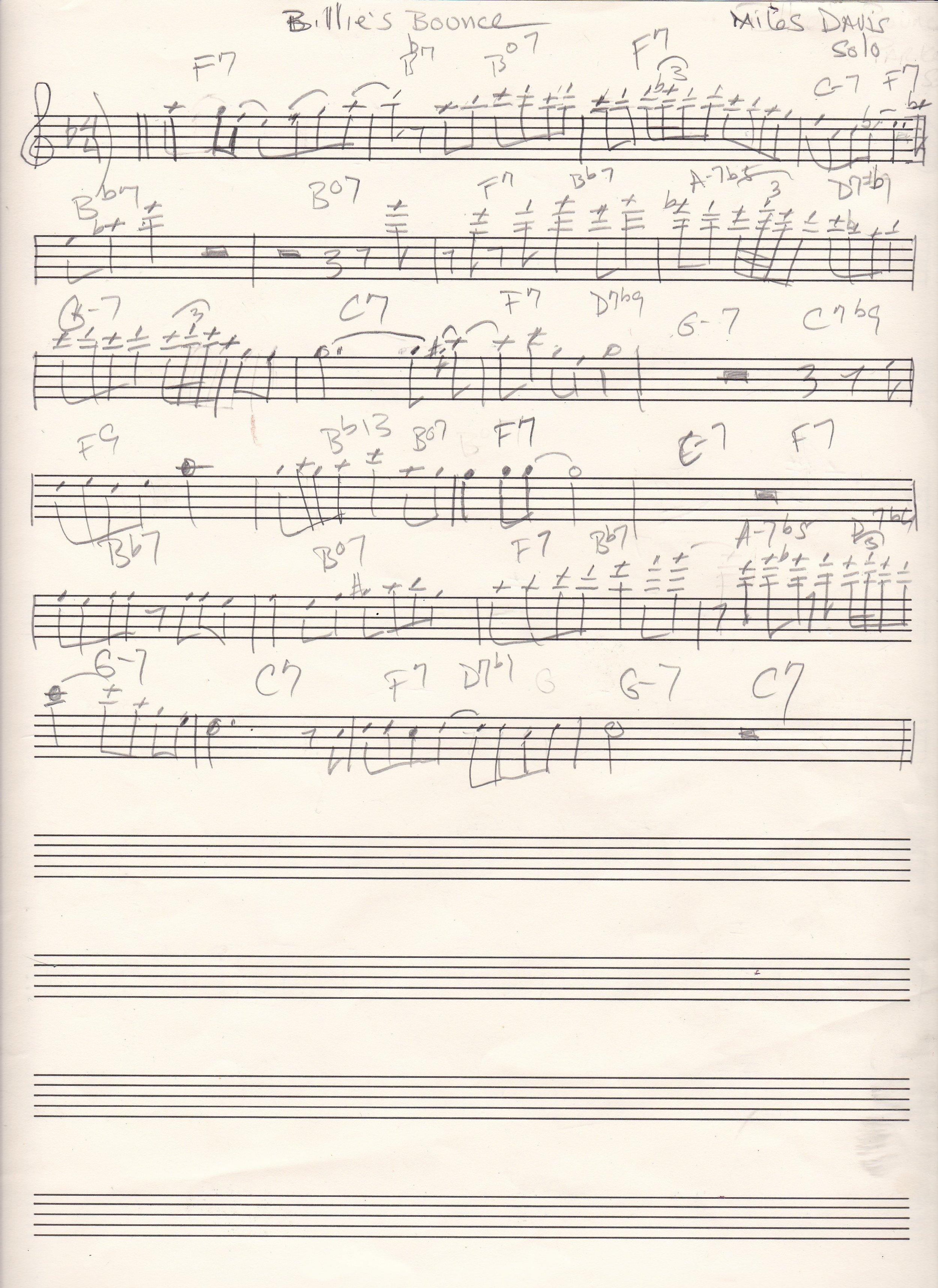 Billie's Bounce Miles Davis solo