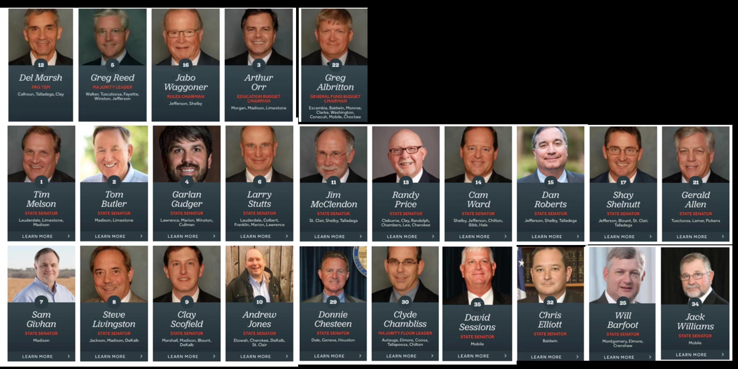 """""""Your body, our choice."""" Nämä 25 republikaania päättivät lakimuutoksesta ylivoimaisella enemmistöllä 35-paikkaisessa Alabaman senaatissa. Senaatissa on neljä naisedustajaa, he ovat kaikki demokraatteja."""