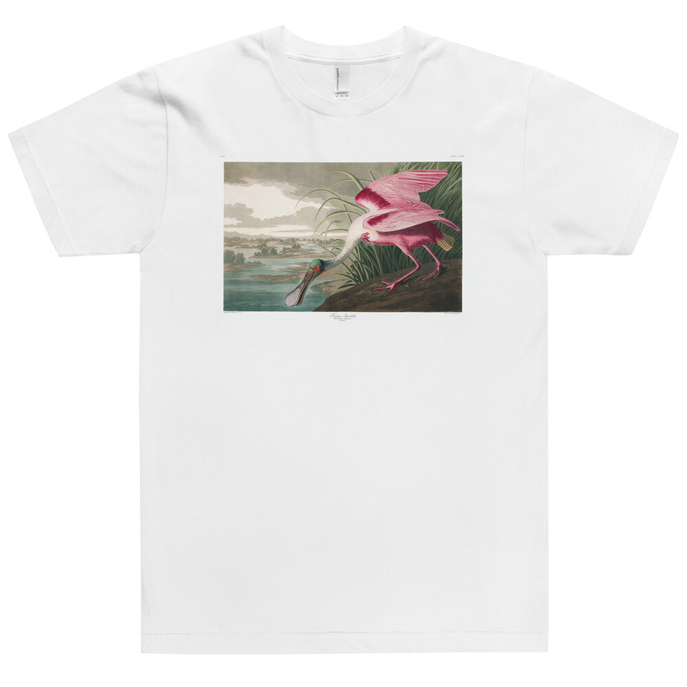 Roseate-Spoonbill,-The-Birds-of-America,-T-Shirt_mockup_Front_Flat_White.jpg