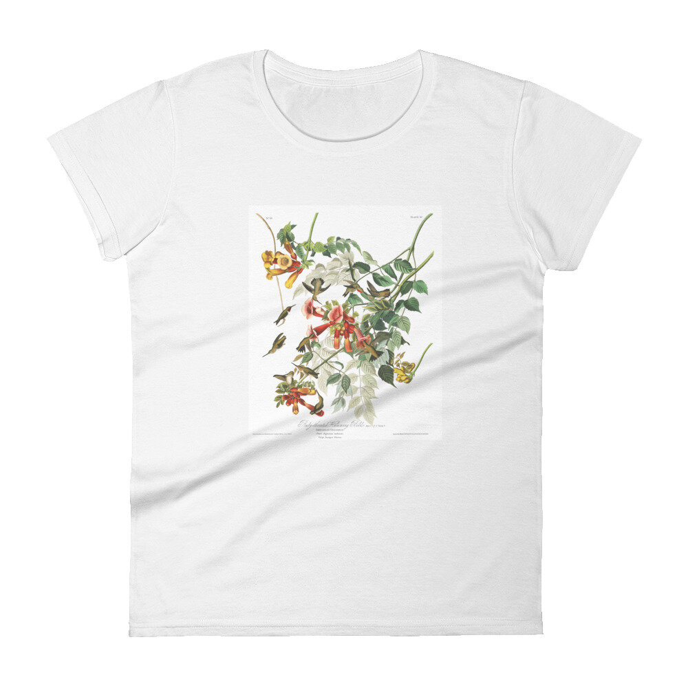 Ruby-Throated-Hummingbird-The-Birds-of-America,-Womens-T-Shirt_mockup_Front_Flat_White.jpg