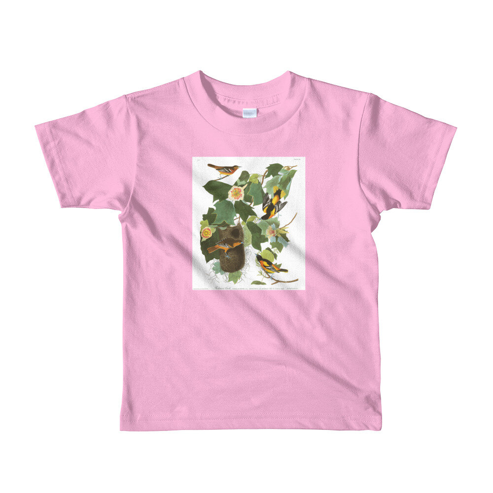 Baltimore-Oriole-The-Birds-of-America,-Kids-T-Shirt_mockup_Front_Flat_Pink.jpg