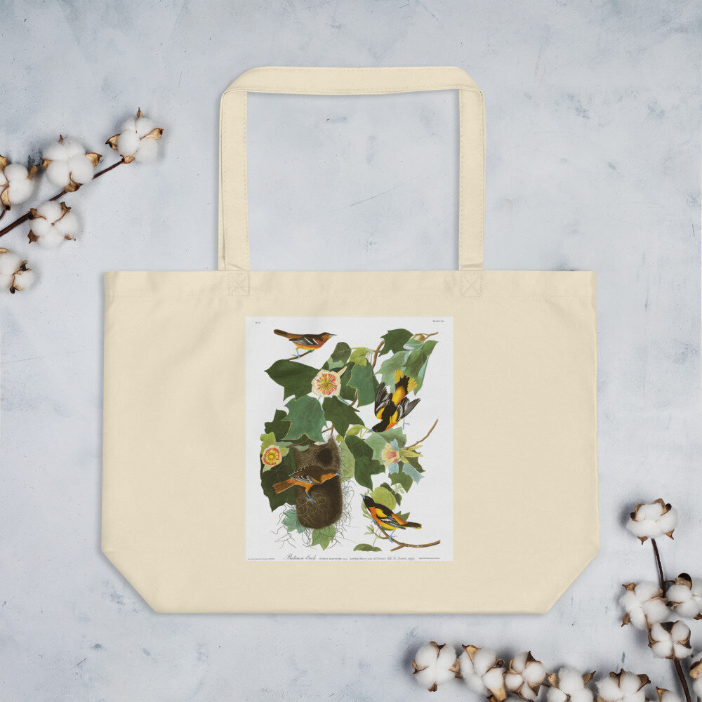 Baltimore Oriole Orgnaic Cotton Tote Bag