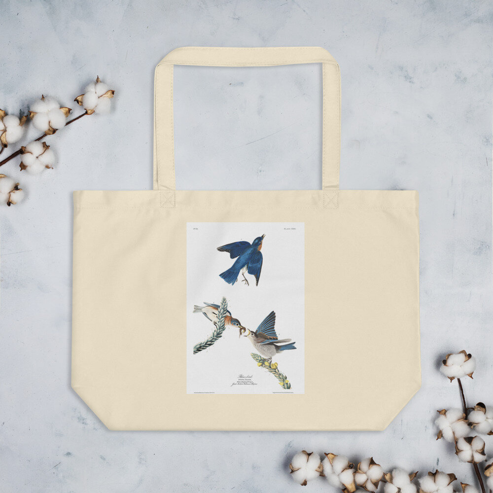 Bluebird Organic Cotton Tote Bag